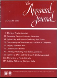 The Appraisal Journal, January 1985